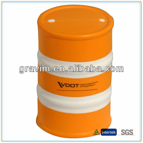 Orange oil drum stress ball