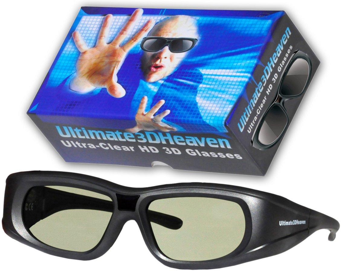 9caefdd8342b7 Get Quotations · Adult Epson ELPGS03 3D Glasses 3D Heaven Rechargeable  Compatible 3-D Glasses