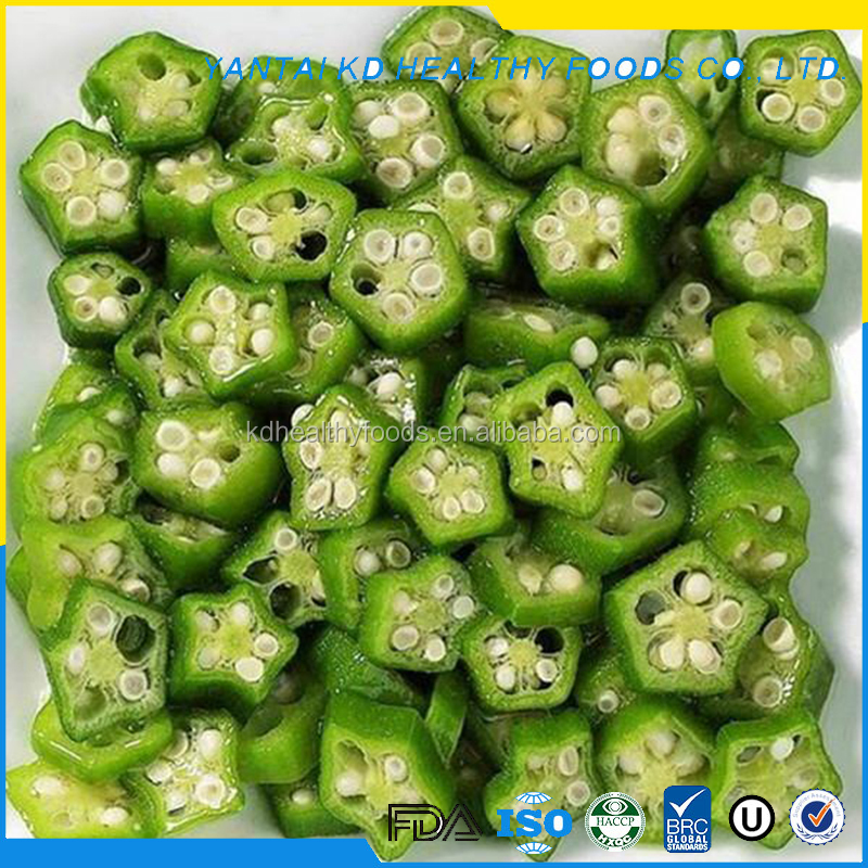 hot sale organic frozen okra cut