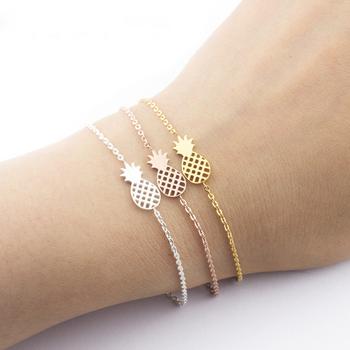 Fashion Women Jewelry Whole Tropical Fruit Cuff Bracelet Pinele Charm Stainless Steel Friendship Bracelets