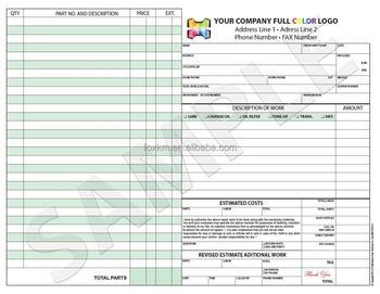 Color Custom Invoice Sales Receipt Estimate Quote Mechanical - Mechanical invoice