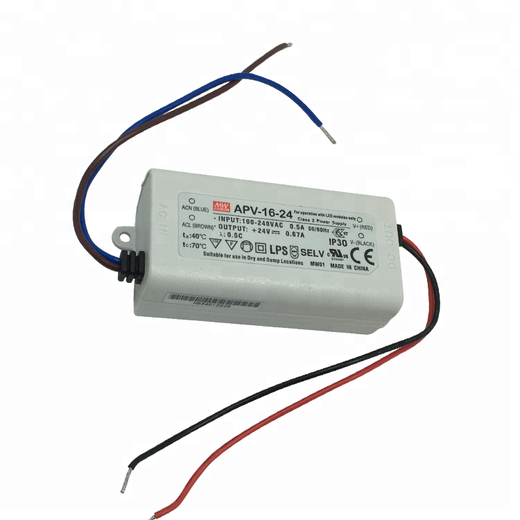 Custom Made APV-16-24 KR Mean Well 16W 24 Volt DC LED Driver IP42 LED Power Supply