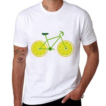 b9afd481 Lemon Bikes Print Short Sleeve Cotton Fashion Men T-shirt Mens Summer White  Tee Wholesale