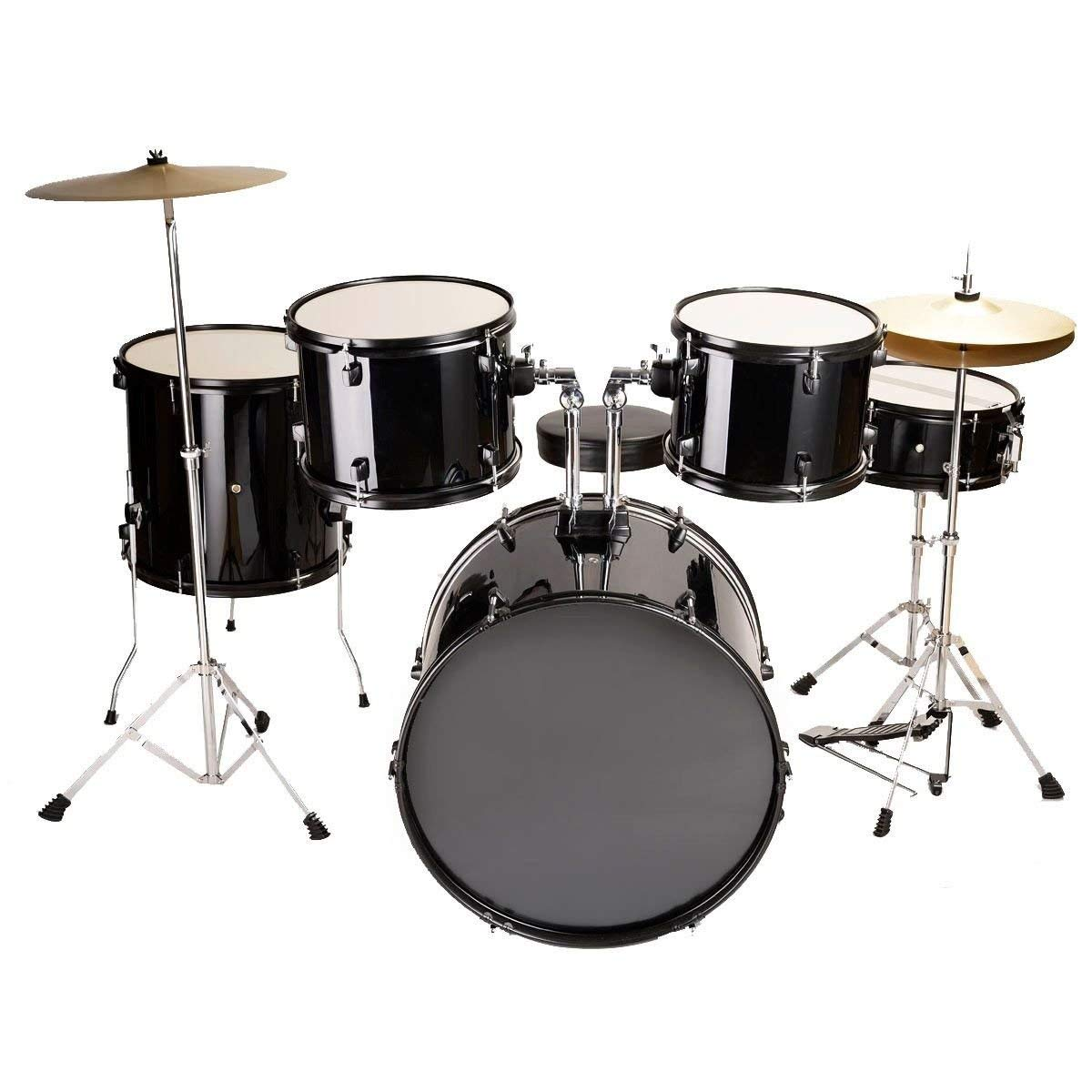 Generic O-8-O-1156-O SET CYMBALS SIZE ADULT DRUM MBALS F NEW BLACK DRUM S FULL SIZE 5 PIEC COMPLETE 5 PIECE HX-US5-16Mar28-2851