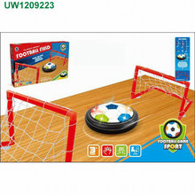 Kids Toys Soccer Goal Set Hover Football with 2 Gates for Kid Christmas Gifts Sports Boys Girls Air Power Training Ball Indoor O