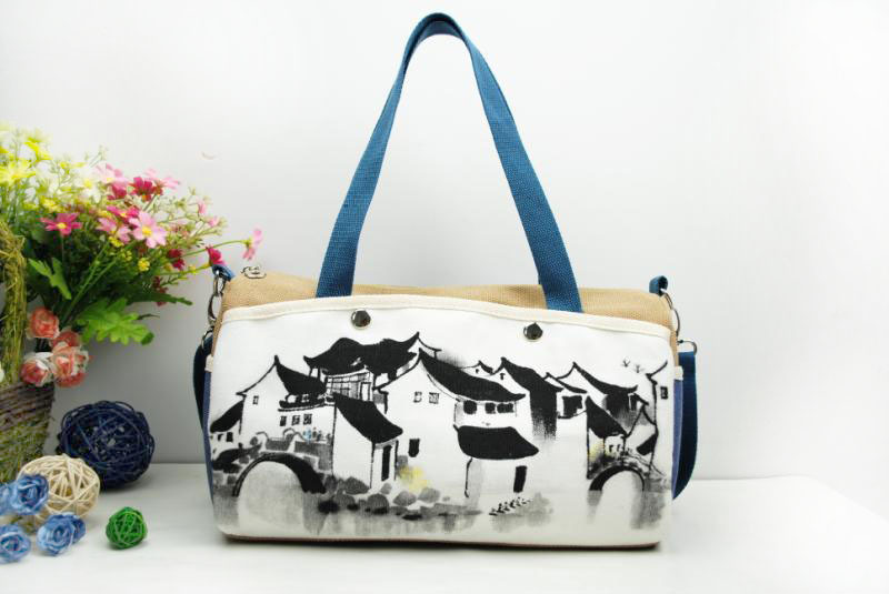 Chinese style women bag China culture beauty fashion lady bag leisure handpainted canvas bag - P-03