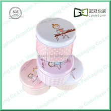 Hot sale round metal tin candy/gift/tea storage packaging boxes