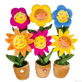Kartun Kustom Boneka Lembut Yang Indah Mewah Mainan Bunga Matahari