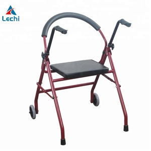 Medical mini walker Rollator mobility aids 2 wheel walker with seat