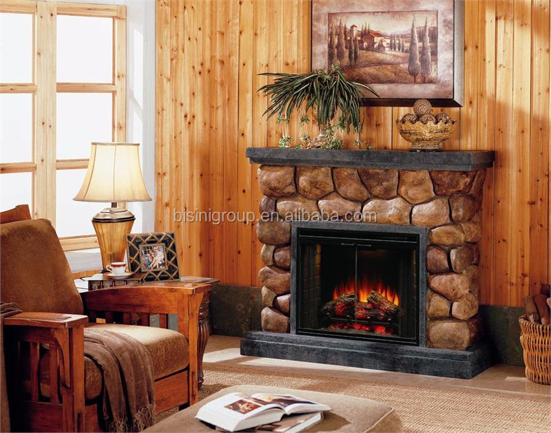 to build and stone decors faux idea a electric how fireplace design