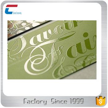 Spot Uv Green Background Print Business Pvc Cards Cheap Business