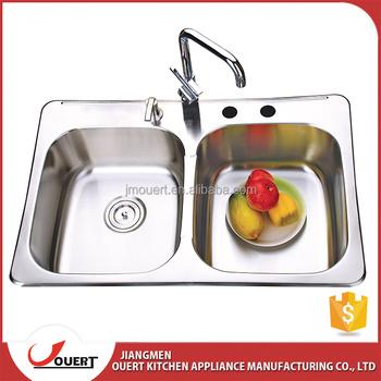 American Standard 830*540*228mm Stainless Steel Inox Double Sink