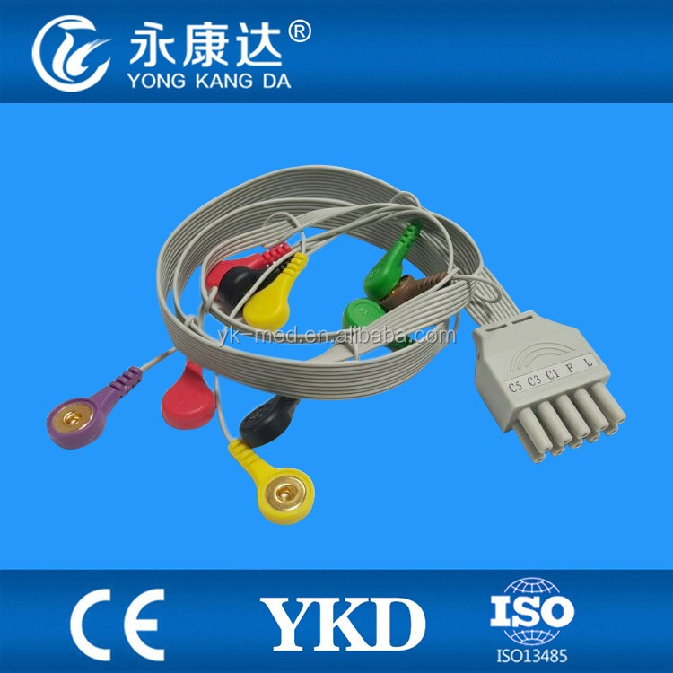 Contec 10lead ECG holter cable, CE&ISO13485, Manufacturer