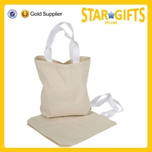 2015 Alibaba China wholesale cheap natural organic color cotton tote bags with nylon web handles