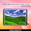 12 inch open frame touch pc with resisitive touch screen, capacitive or IR touch screen