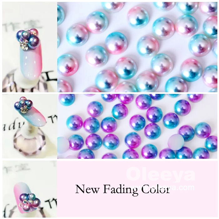 Factory Wholesale Price Over 60 Colors 2mm-25mm Loose ABS Half Round Pearls for Clothing Accessory