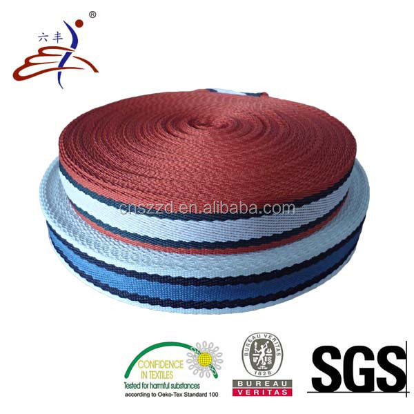 Colored 2cm Polyester Stripe Webbing