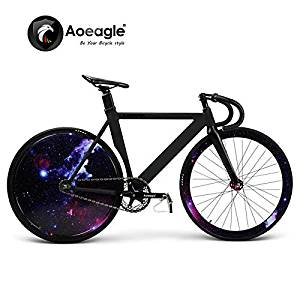 700C Cool Fixed Gear Bike, Road Bike, Racing Bike, Flash Bicycle, Aluminum Alloy Muscle Frame, Shiny Rear Wheel