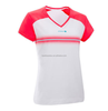 Women Color Contrased Short Sleeve Runing T-shirt White Strip