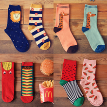 Brand Caramella Autumn Winter Character Cartoon Men Cotton Long Socks For Neutral Animal Socks Lovers Socks 2014 New Arrival
