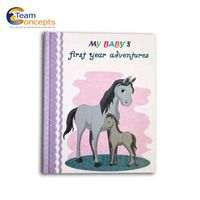 Modern Baby Memory Book and Photo Album for New Parents