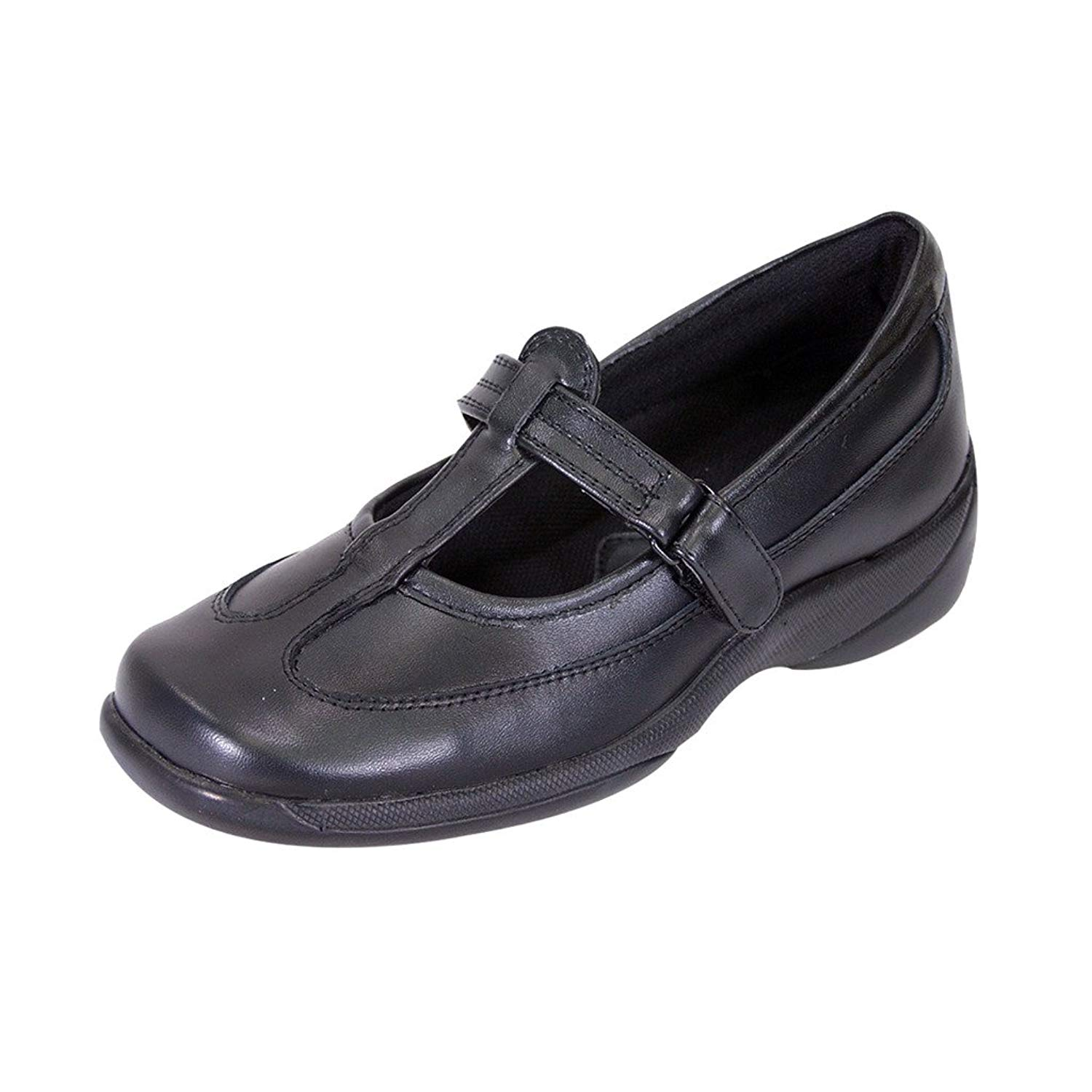 0bf6a6d8c69 Get Quotations · 24 Hour Comfort Renee Women Wide Width Leather Maximum  Traction Comfort Shoes