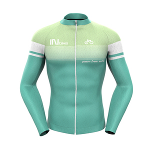Custom High Quality Sublimation Printing Mens Long Sleeve Cycling Gear Jerseys