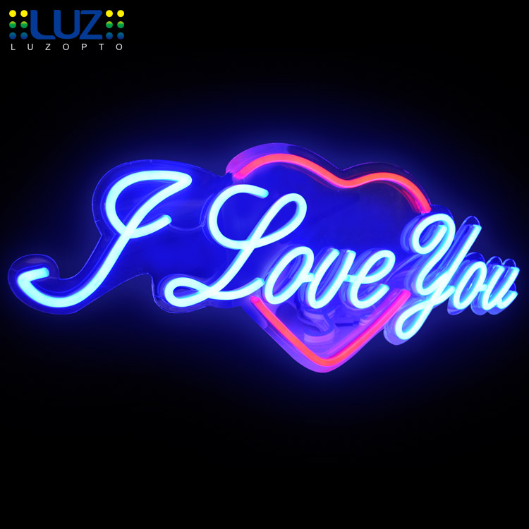 Neon metal stainless steel custom acrylic LED edge lit letter sign, 3D LED neon sign letter