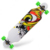 China Factory Top Grade Unique Fire Shark Wheels Pattern Long Skateboard