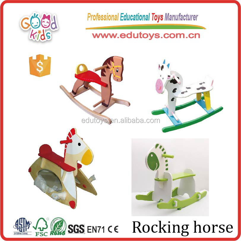 2017 Kids Rocking Horse for Kids, MDF Wooden Rocking Horse, Multicolored Rocking Hourse Toys
