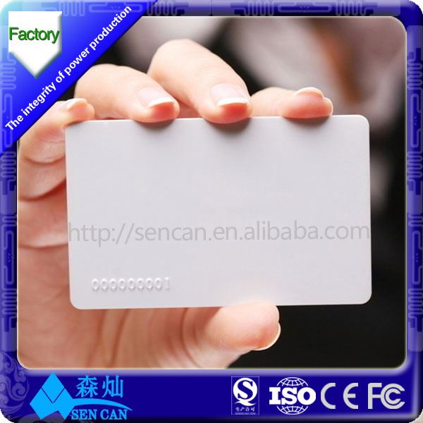 ISO1444A Type 2 Epoxy NFC Tag , Thin NFC Card , White NTAG213 Sticker