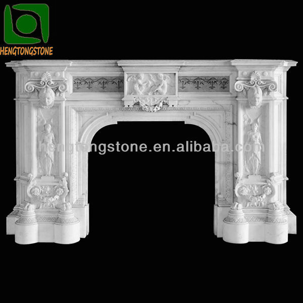 Indoor Decorative Modern Marble Fireplace Mantel