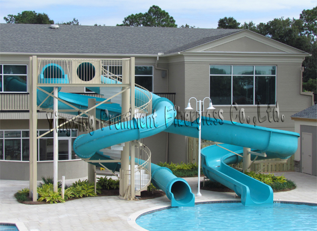 Private swimming pool fiberglass water slide for home - Swimming pools with waterslides in london ...