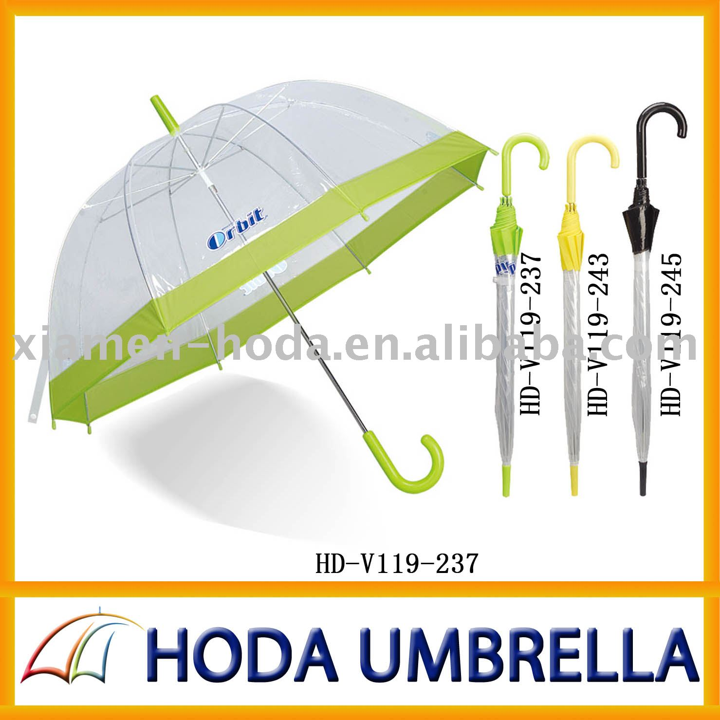 transparent children PVC/POE umbrella