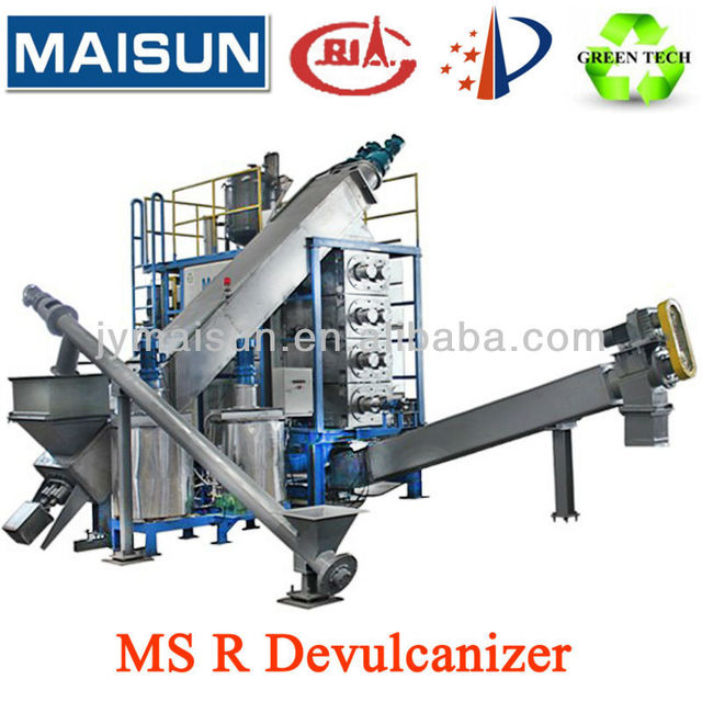 Waste Tyre Recycling Machine, Reclaimed Rubber Devulcanizer, Reclaimed Rubber Production Line
