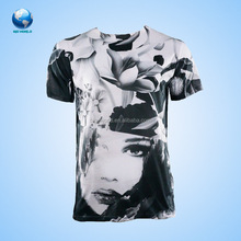 Factory Direct Price Wholesale 180G 100% Polyester Custom Screen Print Tshirt