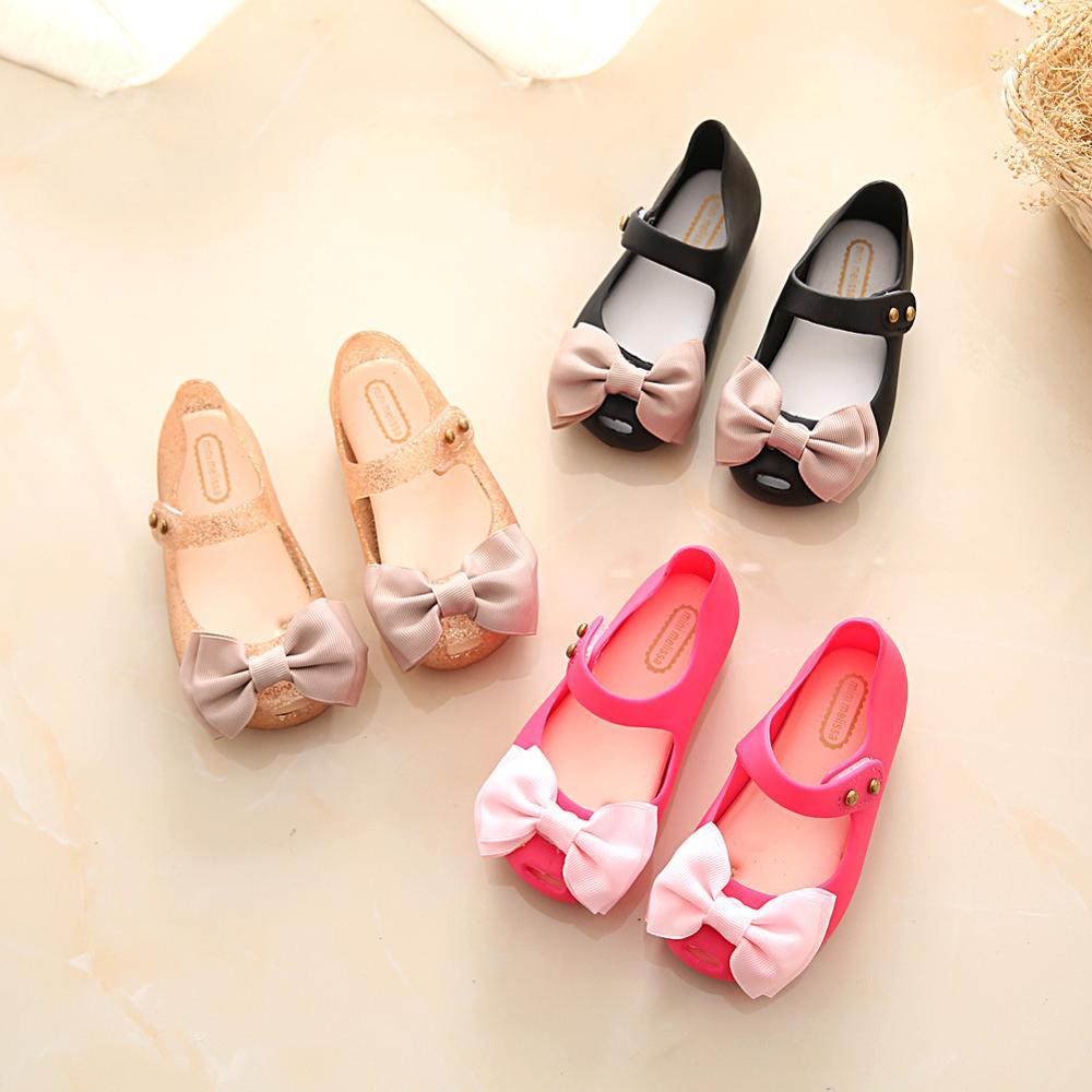 9cbf509aaa48 Mini Melissa Girls Shoes Cheap Soft Jelly Shoes Kids Summer Sandals