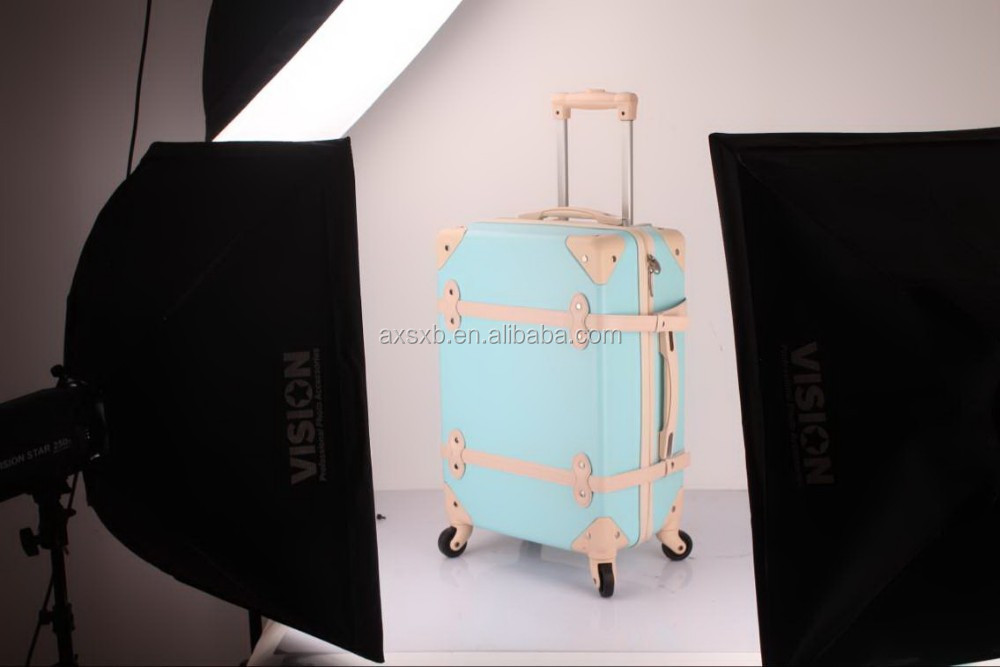 ABS+PC 3 pcs set eminent old fashion trolley plastic drawer trolley four wheel trolley