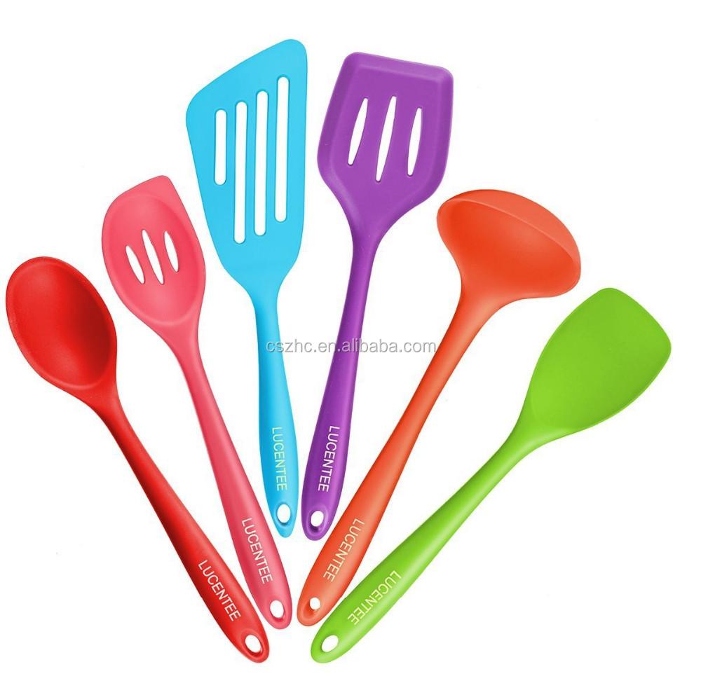 Usse Silicone Cozinha 6 Piece Set 2 Colheres 2 Torneiros 1 Spoonula