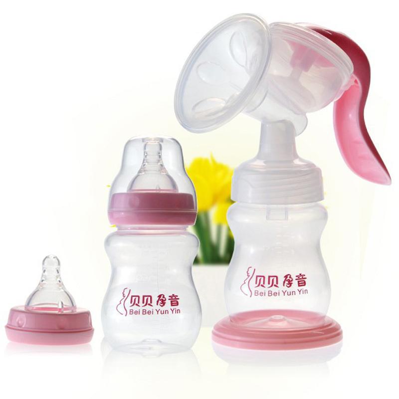 Детские молокоотсос молоко 210 мл новорожденный грудное вскармливание детские руководство пп розовый молокоотсосы -- MKA061 PT15