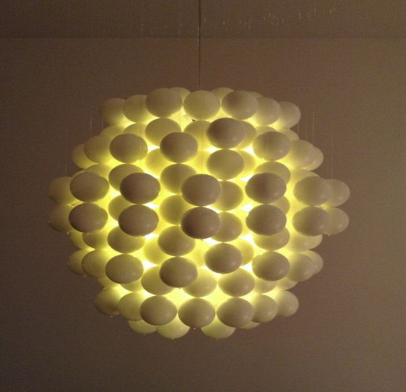 White high translucent ocean ball lamp covering