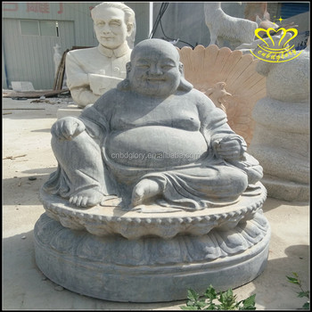 Orted Lucky Laughing Hy Fat Buddha White Marble Ornament Sculpture Statue