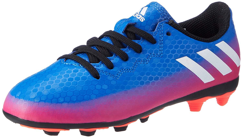 f384672ae Get Quotations · Messi 16.4 FxG Kids Football Boots - Blue SOrange