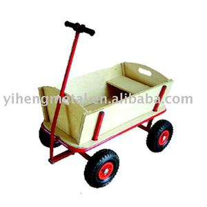 CHILDREN WOODEN HAND CART