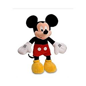 """Disney Mickey Mouse Plush Toy,Red Shorts,Yellow Shoes,17""""L,NIP"""