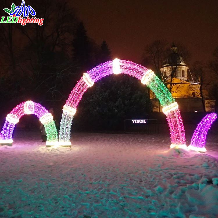 Ping Mall Decoration Led Gate