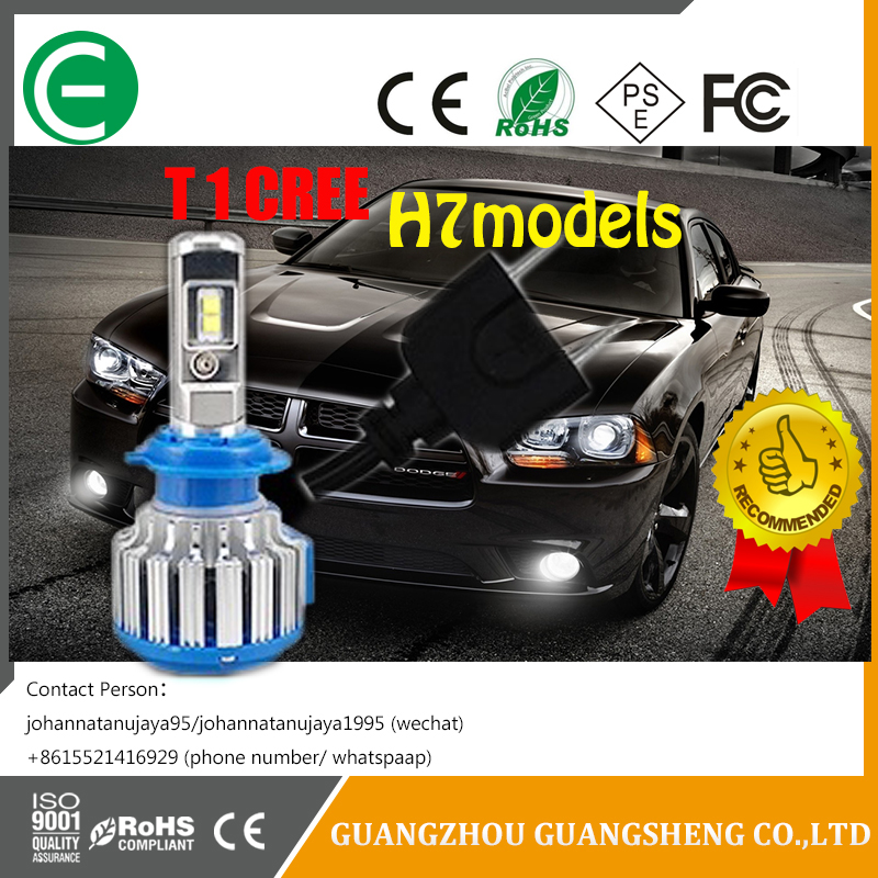 Low Beam T1 COB chip H7 CRE E chip auto LED light bulb, with many kids of other models