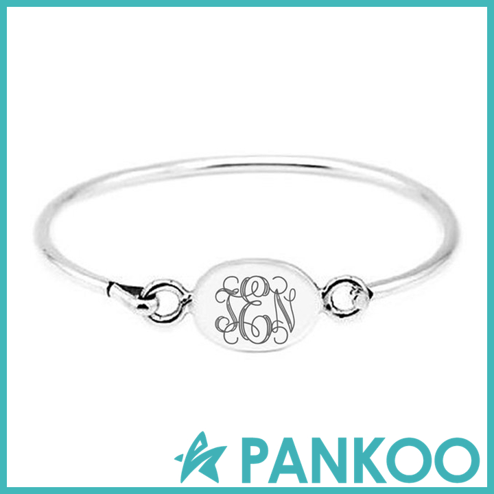 925 Sterling silver engravable baby bangles for sale