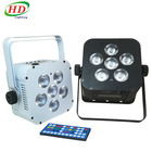 Battery Powered Wireless Rechargeable 18 Watt QUAD LED Par can Light 108w uplight