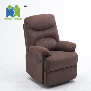 (DIRECTOR) Soft Khaki Fabric Recliner Sofa Chair